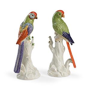 Multi-colored Port Royal Birds- Pair