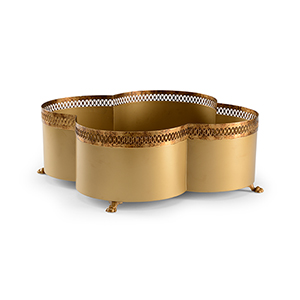 Lisa Kahn Gold Tracery Cachepot