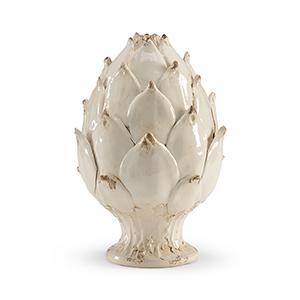 White Small Artichoke Figurine