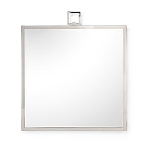 Silver Square Mirror
