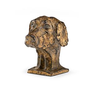 Gold Dog Sculpture