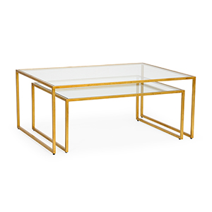 Pam Cain Gold Nested Cocktail Tables
