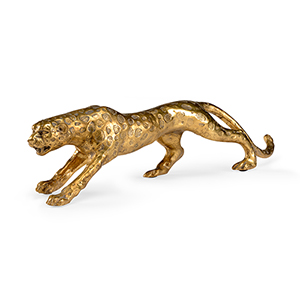 Gold Leopard Figurine