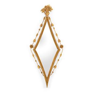 Gold Diamond Hall Mirror