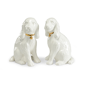 Bradshaw Orrell White Dog Figurines