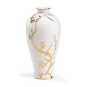 White and Gold Nanshan Vase