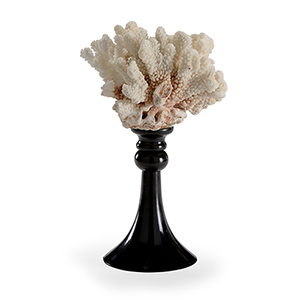Black and White Coral Accent- Small