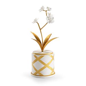 Bradshaw Orrell Gold Round Flower Accent