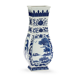Blue and White Londonderry Vase
