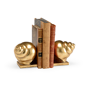 Bradshaw Orrell Gold Shell Bookends- Pair