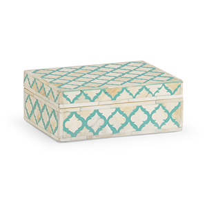Cream and Turquiose Peru Box