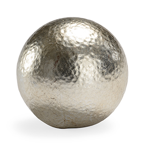 Claire Bell Silver Hammered Ball- Large