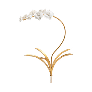 Bradshaw Orrell White Orchid Stem- Medium