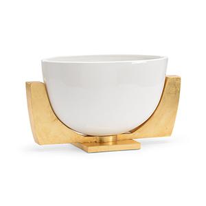 White and Gold Lander Bowl