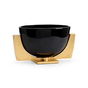 Black and Gold Lander Bowl