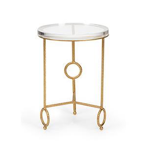 Bradshaw Orrell Gold Acrylic Yonkers Side Table