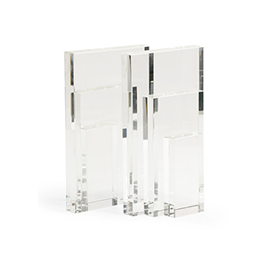 Bradshaw Orrell Clear Crystal Bookend- Pair