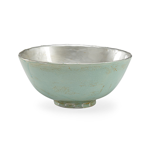 Bradshaw Orrell Mint Green and Silver Ring Bowl