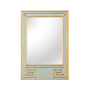 Bradshaw Orrell Mint Green and Gold Greek Hall Mirror