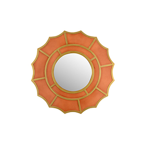 Pam Cain Orange Devonshire Mirror