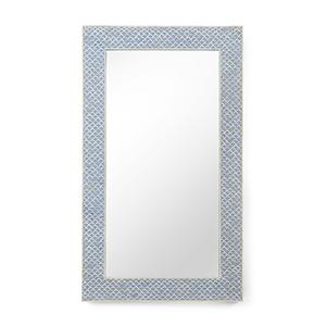 Blue and Cream Elgon Mirror