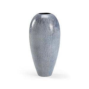 Blue and Black Tall Granger Vase