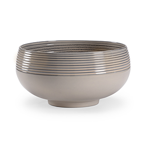Blue and Gray Swirl Bowl
