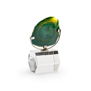 Green Agate on Stand- Small