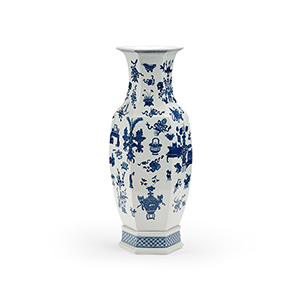 Blue and White Large Ming Vase
