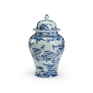 Blue and White Xuande Covered Urn
