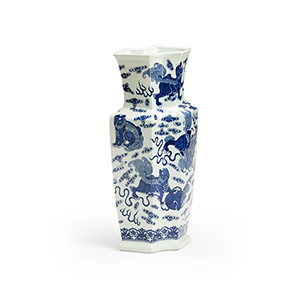Blue and White Ming Octagonal Vase
