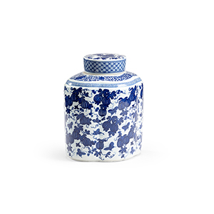Blue and White Tang Covered Vase