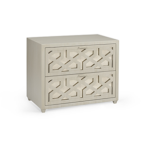 Claire Bell Gray China Lattice Chest