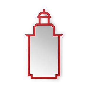 Jamie Merida Red Pagoda Mirror