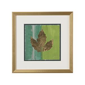Gold Embellished Gold Leaf Tile II Print