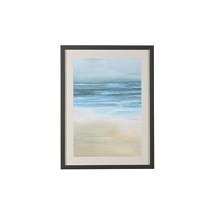 Charcoal Tranquil Sea II Print