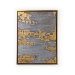 Multi-Colored 39-Inch Gilded Storm Painting