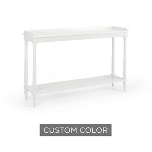 White 54-Inch Retreat Console Table