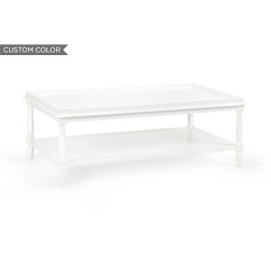 White 48-Inch Retreat Cocktail Table
