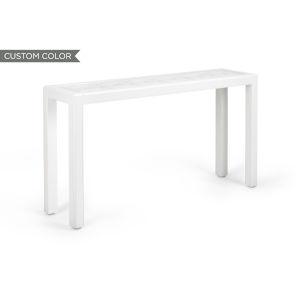 White 60-Inch Trellis Console Table