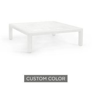 White 54-Inch Large Trellis Cocktail Table