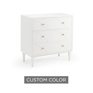 White 32-Inch Wave Bedside Chest