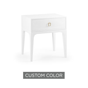 White 28-Inch Greek Key Nightstand