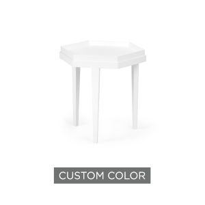 White 20-Inch Beveled Bunching Table