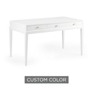 White 54-Inch Beveled Desk