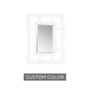 White 30-Inch Trellis Mirror - Open Frame