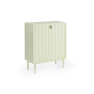 White 27-Inch Ribbed Cabinet