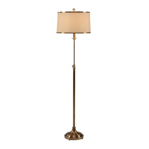 Gold One-Light 15-Inch Adjustable Floor Lamp