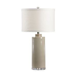Stone Gray One-Light 11-Inch Edith Lamp
