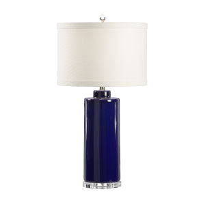 Royal Blue and Cream One-Light 12-Inch Edith Lamp